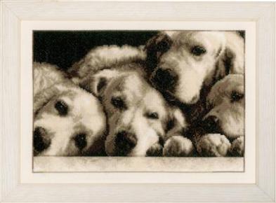 DMC Labradors 33 x 23 cm telpakket