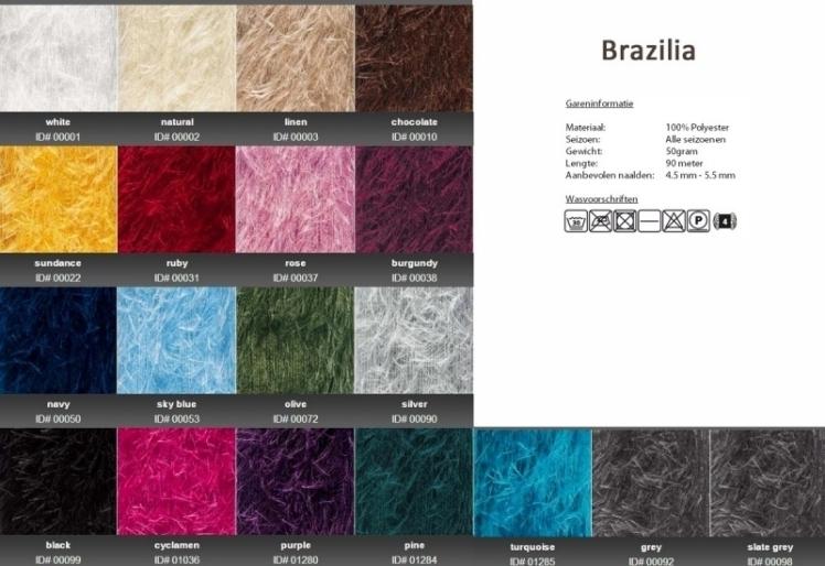 Brazilia kleurenkaart