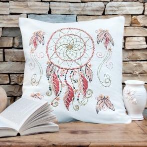Voorbedrukt borduurkussen linnen en katoen 40 x 40 cm